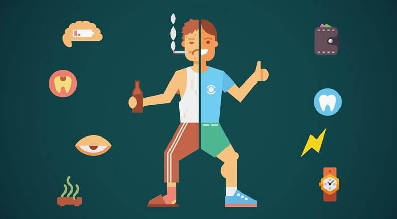ترک عادت های بد,عادت های بد روزانه,عادت های مضر روزانه