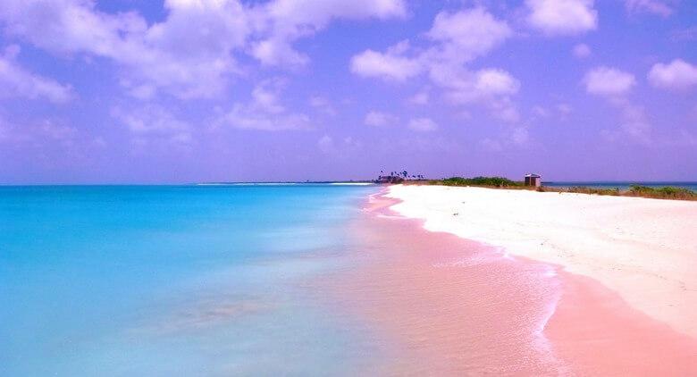 ساحل صورتی اندونزی,ساحل صورتی رنگ,ساحل صورتی یونان,