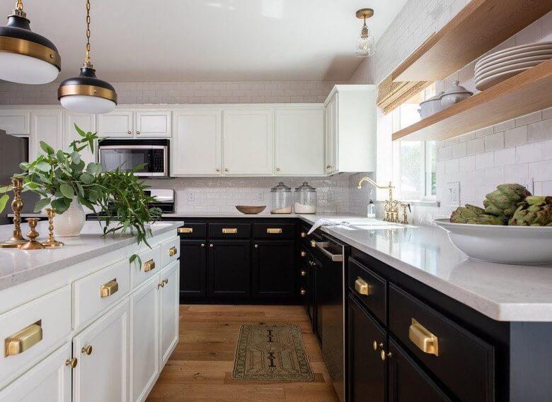 انتخاب رنگ کابینت آشپزخانه,انتخاب رنگ کابینت آشپزخانه کوچک,بهترین ترکیب رنگ کابینت آشپزخانه,