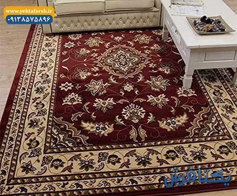 فرش گل برجسته,قیمت فرش ماشینی کاشان,انواع فرش کاشان
