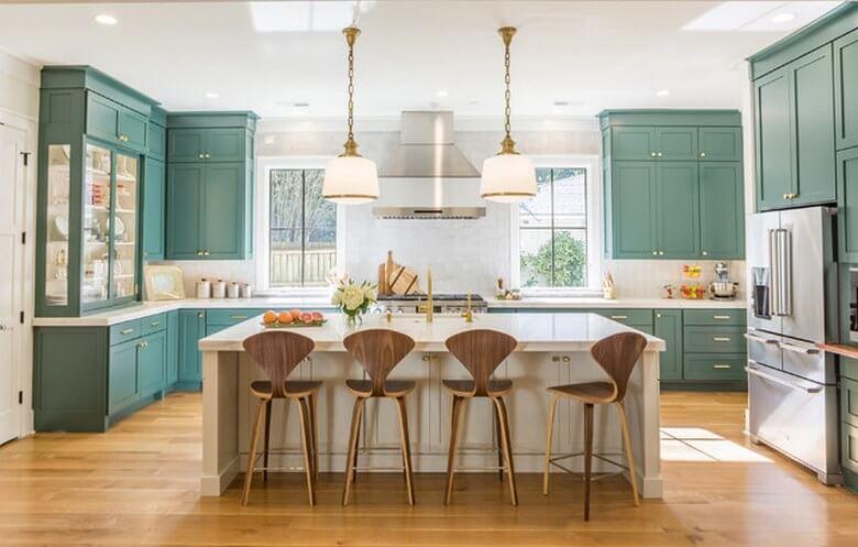بهترین ترکیب رنگ کابینت آشپزخانه,مدل و رنگ کابینت آشپزخانه,اصول انتخاب رنگ کابینت آشپزخانه,