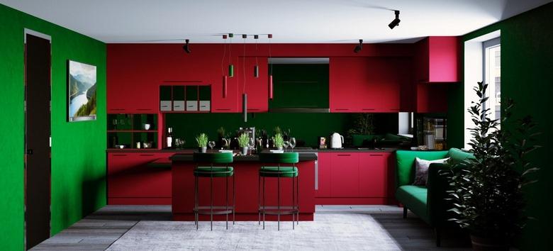 انتخاب رنگ کابینت آشپزخانه کوچک,بهترین ترکیب رنگ کابینت آشپزخانه,مدل و رنگ کابینت آشپزخانه,