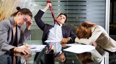 بد اخلاقی در محیط کار,رفتارهای بد در محیط کار,عادت غیر حرفه ای در محیط کار