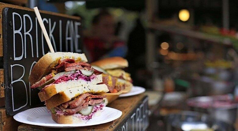 بهترین غذای لندن,عکس غذای لندن,غذای خیابانی لندن