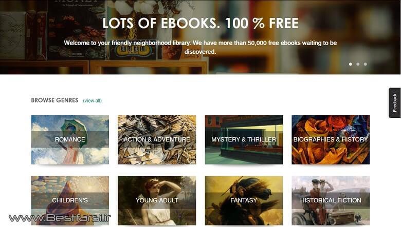 سایت برای دانلود رایگان کتاب خارجی,معرفی سایت های خارجی دانلود رایگان کتاب,بهترین سایت دانلود کتاب رایگان خارجی