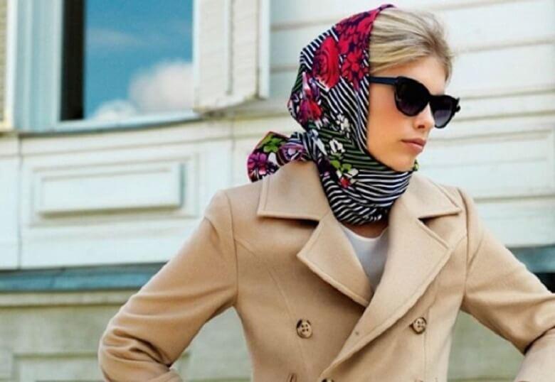 بستن روسری بزرگ,بستن روسری بلند,بستن روسری مجلسی,