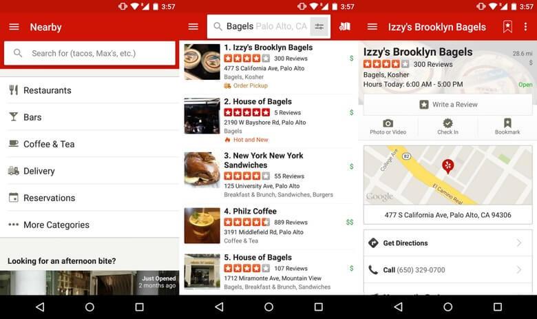 نرم افزار رستوران یاب اندروید,اپلیکیشن رستوران یاب,بهترین برنامه رستوران یاب